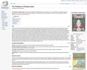 The Professor of Practical Jokes on Wikipedia