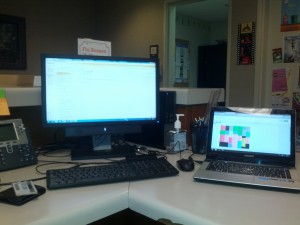As you can see, I have two laptops open. That makes me twice as important...