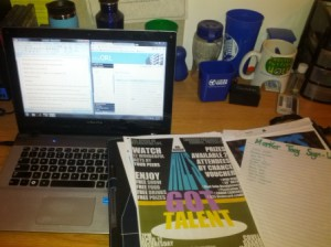 Three tabs, two windows, a folder full of flyers and love in my heart (I swear).